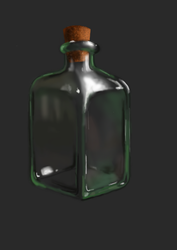 Glass Bottle by DeathwithUndertale