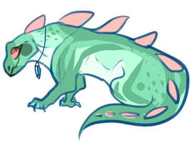 Tropical Iguana Creature (SET PRICE, CLOSED) by Validitty