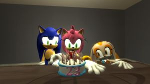 Happy late Birthday Amy Rose by CyotheLion