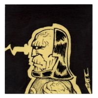 Darkseid post it!   100 days 34 by OcioProduction