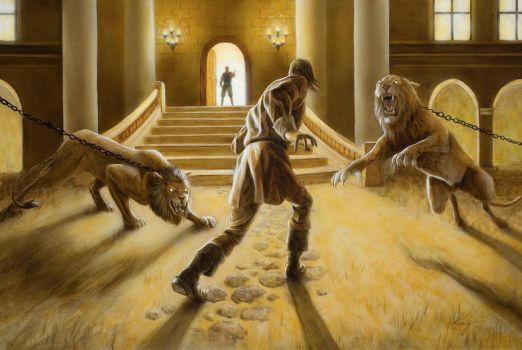 Pilgrim's Progress: Chained Lions by DouglasRamsey