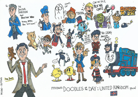 Doodles of The Day: United Kingdom Special by FTFTheAdvanceToonist