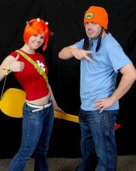 Parappa and Lammy by negativedreamer