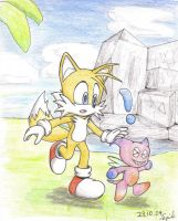 Tails in chaogarden by SonicPro