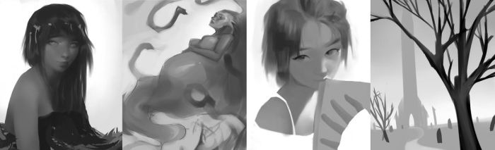 Daily Sketch Compilation 1 by Amreio