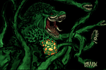 Ms Rose Gojigami (FULL COLOR.. Biollante) by GwarBeast