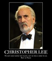 Rest in Peace Christopher Lee by jswv