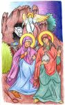 Matthew 28:4-8 (Myrrhbearers at the Tomb) by Parastos