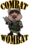 Combat Wombat T-shirt by Hamiltoons