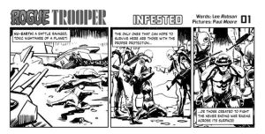 Rogue trooper newspaper strip starts today by Paul-Moore