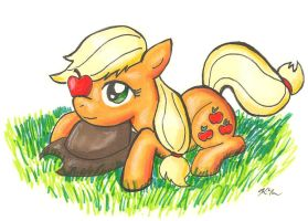 ATG Day 1: Pony Idling by CatScratchPaper