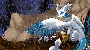 Prompt #13 - Surprise Rain Shower!! by JB-Pawstep