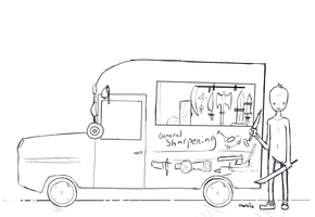 Knife Sharpening Truck by TheRailz-Art