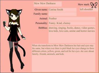 my Mew Mew character by cat55