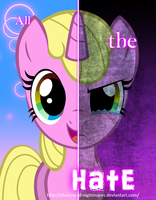 .:Commission:. Two Sides of Rainbow HeArt by Shadow-of-Nightmares