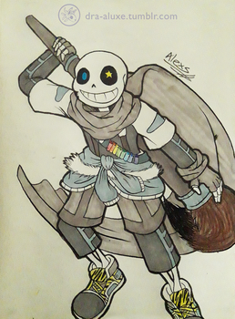 Ink!sans - Happy Anniversary :D by Dra-Aluxe