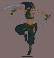 Akali - The Rogue Assasin by Nuuura