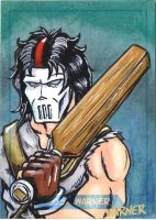 Casey Jones sketch card by JLWarner