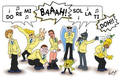 Cartoon Men's All-Star Choir by SaMuRai-YaTTaRo