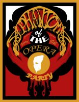 Phantom of the Opera Party Invite by phantomonex