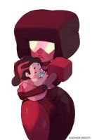 Garnet with baby Steven by bluekomadori