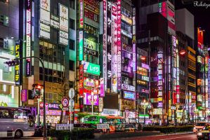 late hour in Tokyo by Rikitza