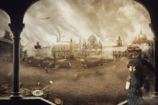 Freedom Circus Matte Painting by En-B