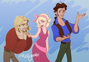 Crossover: Charlotte, Miguel, and Tulio by relsgrotto