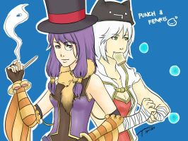 GTRO:: Punch and Fenris by reginepetrola
