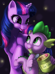 Twilight and Spike by Namele7