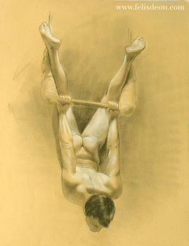 Cayden on the Trapeze by deonart