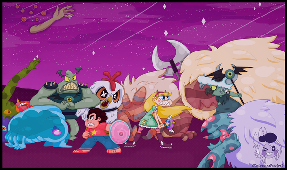 Steven Universe and Star Vs the Forces of Evil by 3CrowArtistry