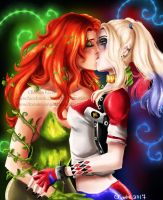 Poison Ivy and Harley Quinn by ChelseaFavre