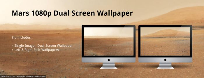 Mars HD - Dual Screen Wallpaper by noodle98