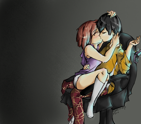 Chair-side Kiss by Lazy-the-King