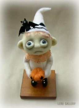 Trick or treat. Halloween art doll. LeRu Gallery by LeRuGallery
