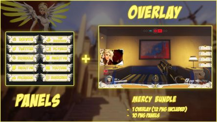 Mercy Bundle - Panels + Overlay (21 PNG) by lol0verlay