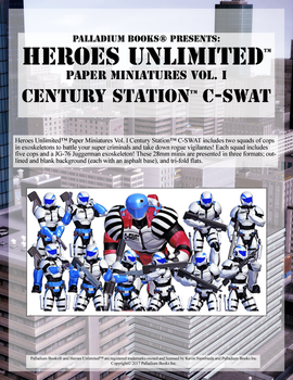 Heroes Unlimited Paper Miniatures Vol I by MADMANMIKE