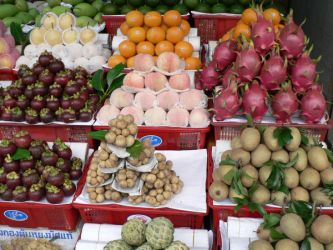 Vietnamese Fruit Stall by raindroppe