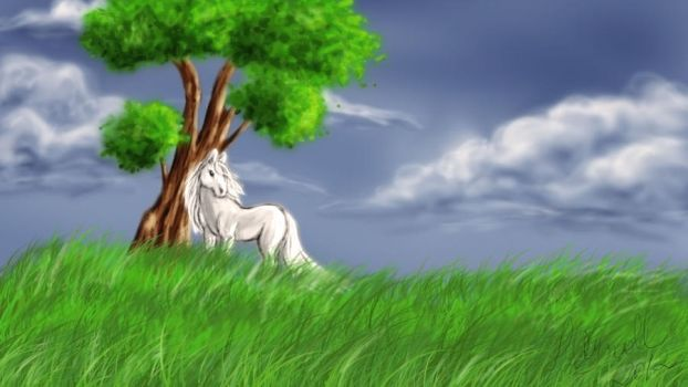 horse and tree by ladyroll