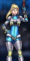 Neo Zero Suit Samus - Commission by Fenril-Huayra