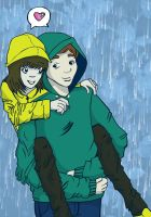 Rain Couple by krl2432