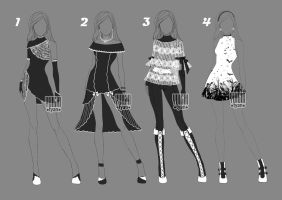 [closed] Auction Adopt BW Outfit 2 by YuiChi-tyan