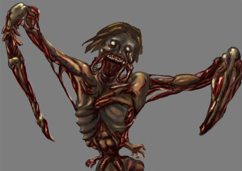 Necromorph detail by AngelFether