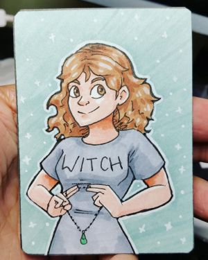 Aceo April #14 - Witch by Mr-Sage