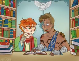 Two Bros Chilling In A library