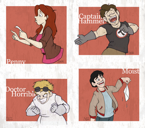 Doctor Horrible 'Cards' by lovingthecubs