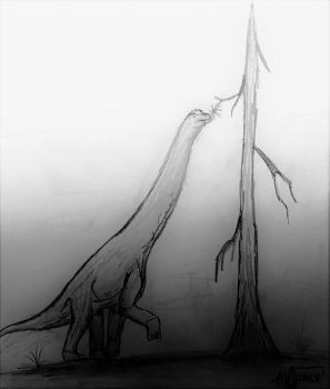 The Last Brachiosaurus by Galaxoica