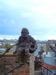 The statue of chimney sweep in Lviv by resh11ka