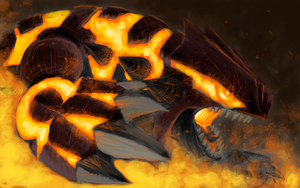 Primal Groudon by SquirrlMongr